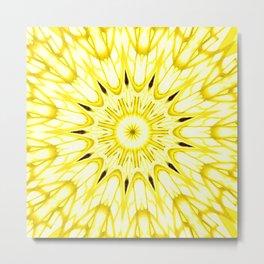 the sun : Yellow Mandela Explosion Metal Print