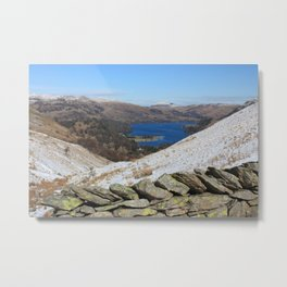 The Lake District in winter Metal Print