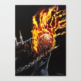 Painted Ghost Rider Canvas Print