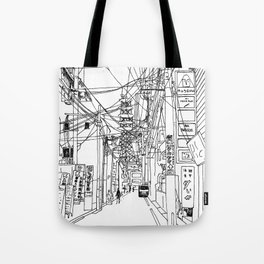 Osaka - downtown street Tote Bag