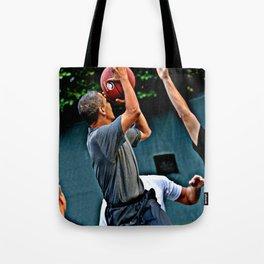 President Barack Obama Takes a Shot Tote Bag