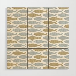 shoal of herring Wood Wall Art