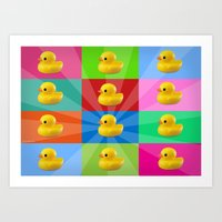 duck Art Prints featuring duck by mark ashkenazi