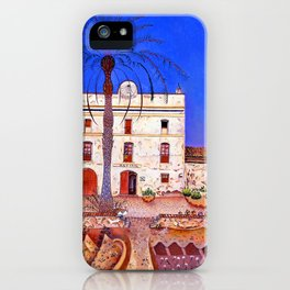 Joan Miro House with Palm Tree iPhone Case