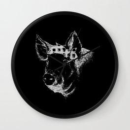 Sassy Pig Wall Clock