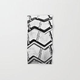 Black rubber tire background Hand & Bath Towel