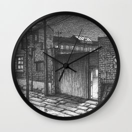 Entrance to the factory Wall Clock