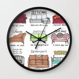 Know Your Couches: A Visual Guide Wall Clock