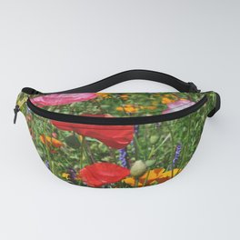 Pink and red poppies Fanny Pack