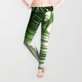 Palm Leaves Green Vibes #9 #tropical #decor #art #society6 Leggings