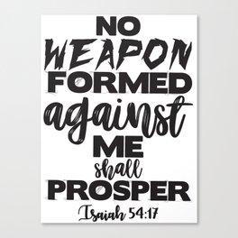 Isaiah 54:17 Canvas Print