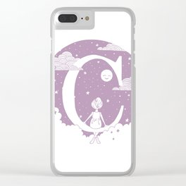 Lilac C Clear iPhone Case