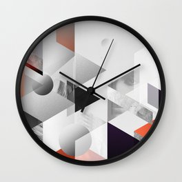 geometric woman II Wall Clock