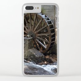 Grist Mill Grinding Clear iPhone Case