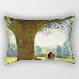 George Clausen - The spreading tree - Digital Remastered Edition Rectangular Pillow