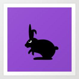 Angry Animals: Bunny Art Print