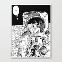 apollonia Canvas Prints featuring asc 333 - La rencontre rapprochée ( The close encounter) by From Apollonia with Love