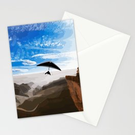 Hang gliding Stationery Cards