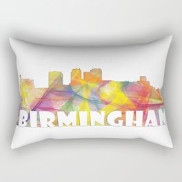 Birmingham, Alabama Skyline MCLR 2 Rectangular Pillow