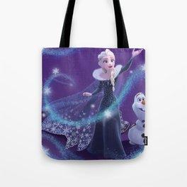 Elsa and Olaf Tote Bag