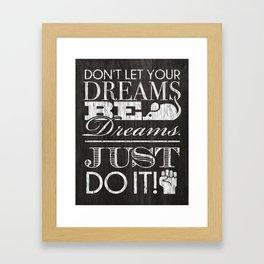 Just Do It - Shia Labeouf Framed Art Print
