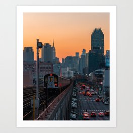 New York City Subway, Sunnyside Queens Art Print