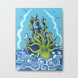 The Kraken Abides Metal Print