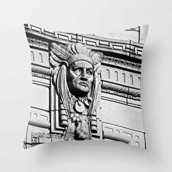 Building Chief Throw Pillow