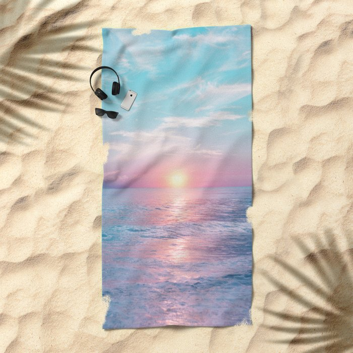 Pastel vibes 13 Beach Towel