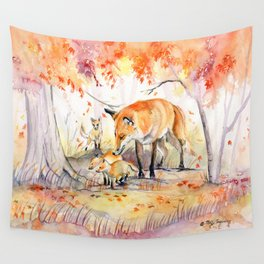 My Garden in Autumn Wall Tapestry