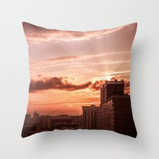 Dawn in the city V2 Throw Pillow
