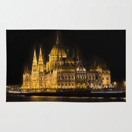 Budapest Parliament At Night Rug