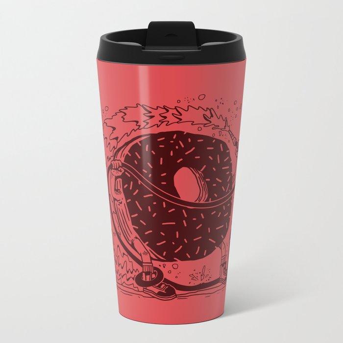 Donut Waste Water Metal Travel Mug