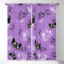 Video Game Lavender Blackout Curtain