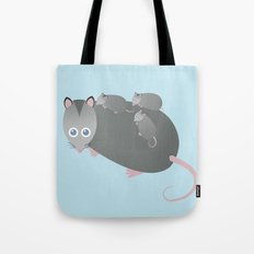 Adorable Mommy Possum Tote Bag