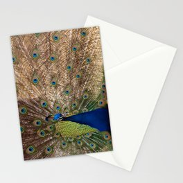 Indian Blue Peafowl Stationery Cards