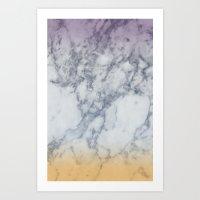 Colorfull marble Art Print