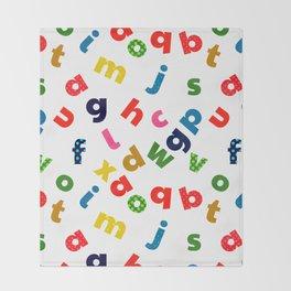 colourful alphabet Throw Blanket