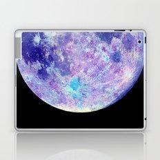 Moon Watercolor Art -black background Laptop & iPad Skin