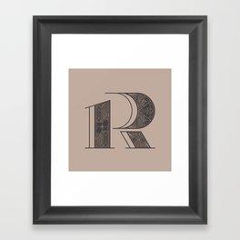 Typography series #R Framed Art Print