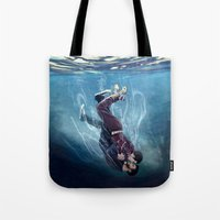 underwater Tote Bags featuring Underwater by MGNemesi