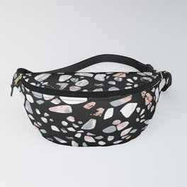 Black and Blush Terrazzo Fanny Pack