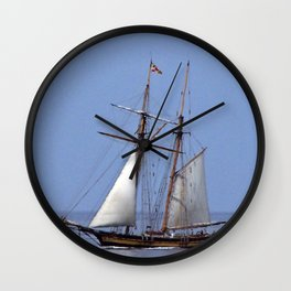 Tall ship Sailing the mighty Saint-Lawrence Wall Clock
