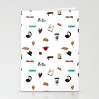 klaine Stationery Cards featuring Pattern of Klaine things by Jen K