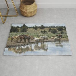 Wild Horses and Biting Flies Rug