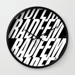 Radfem crescendo Wall Clock