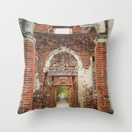 Mansion Hallway Throw Pillow