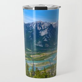 Overlooking the Athabasca River from the Morrow Peak Hike in Jasper National Park, Canada Travel Mug