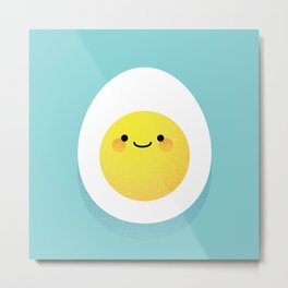 Cute hard boiled eggs Metal Print