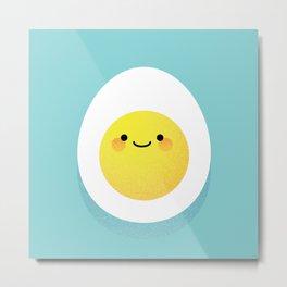 Cute hard boiled eggs Metal Print
